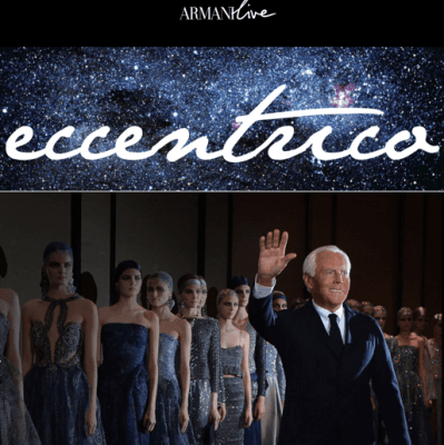 Giorgio Armani Eccentrico exhibition in Paris until January 26th