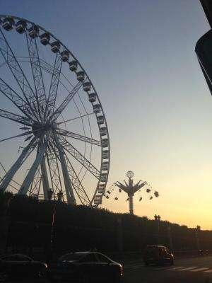 Amusement park in the Tuileries Gardens